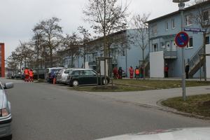 Mantrailing Prüfung des BRK in Regensburg