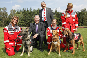 Hunde retten Menschenleben: Zu Gast im Staatsministerium des Innern