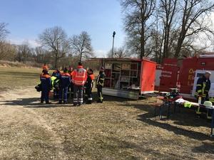 Einsatzübung mit der Feuerwehr